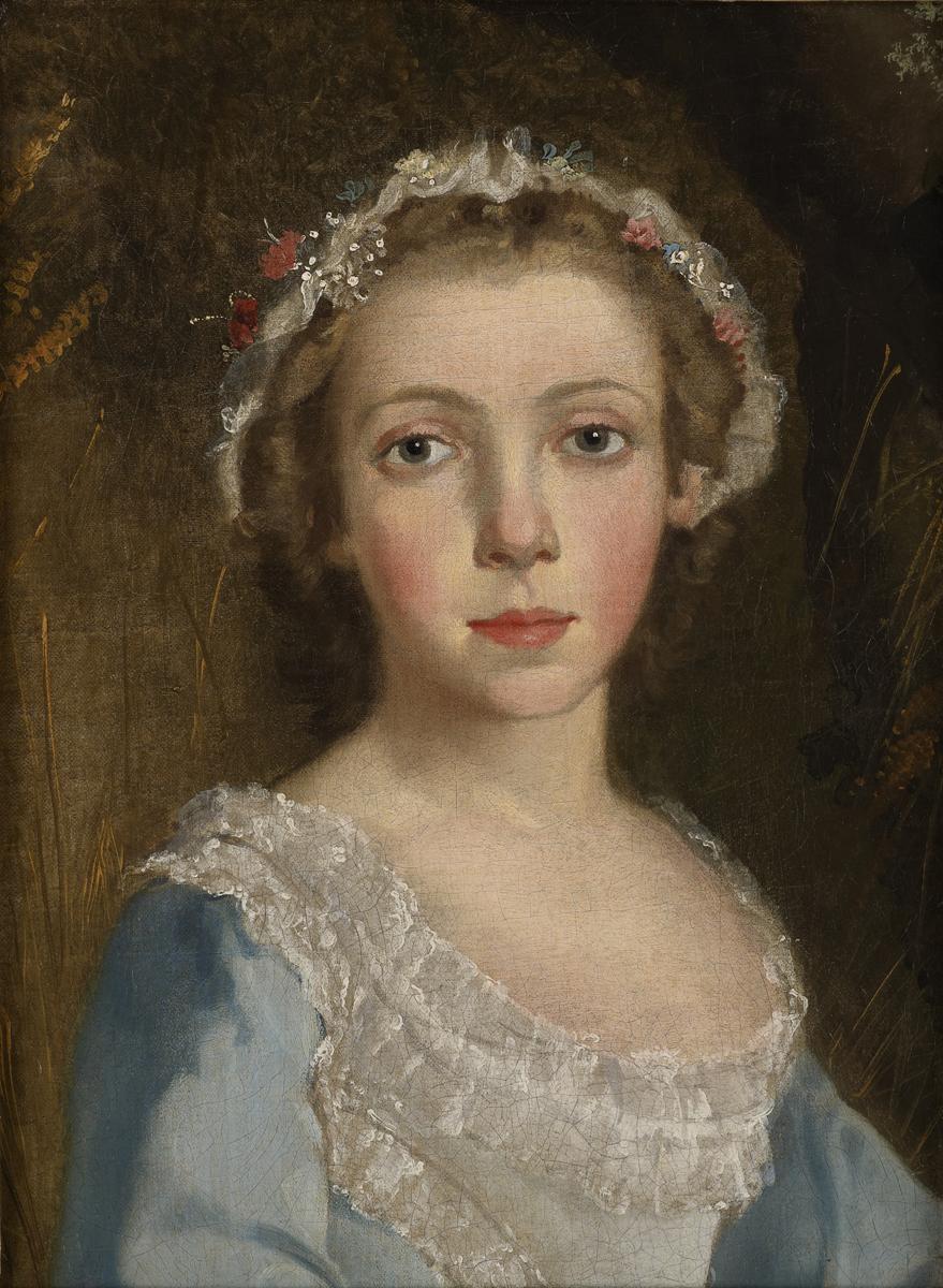 Томас Гейнсборо. Портрет девочки. Фрагмент, ок. 1744