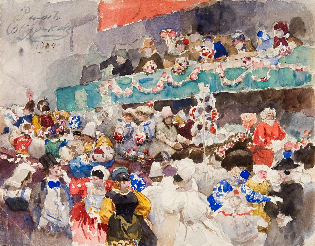 В.И. Суриков. Римский карнавал. 1884