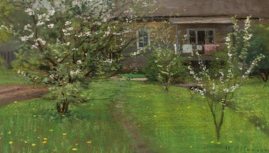 И.И. Левитан.  Цветущий сад. Середина 1890-х