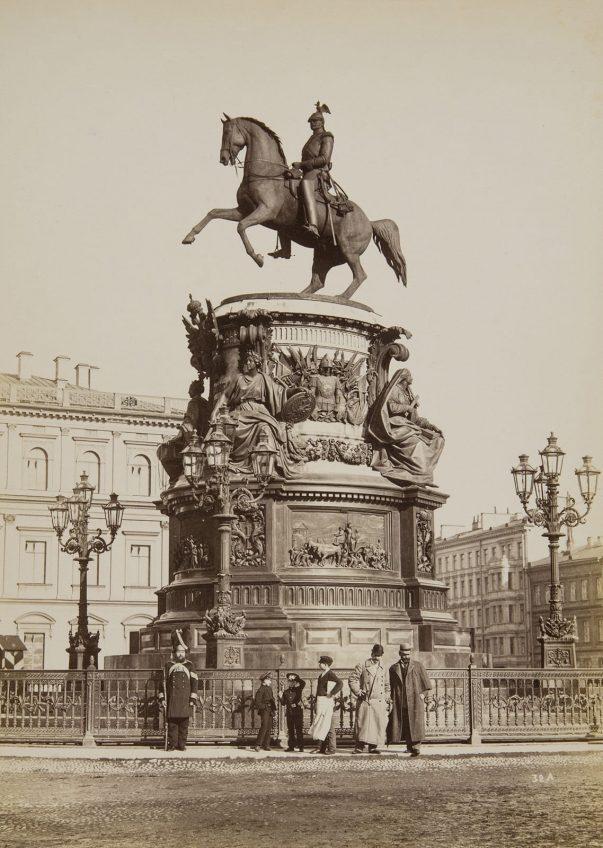 Памятник Николаю I. Ателье «Братья Де Жон», издание А. Фельтена. 1880–90-е