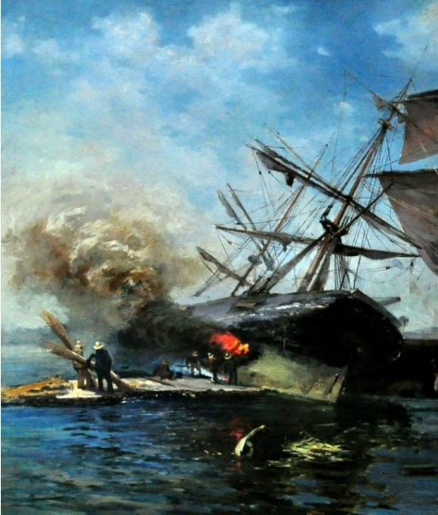 Ладыженский Г.А.  Авария (обжиг судна)  Между 1898 и 1913 г.