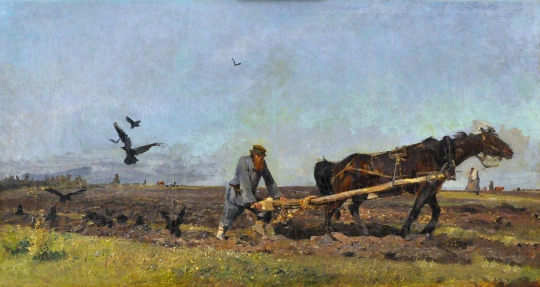Ладыженский Г.А.  Пахарь  Около 1886 г.