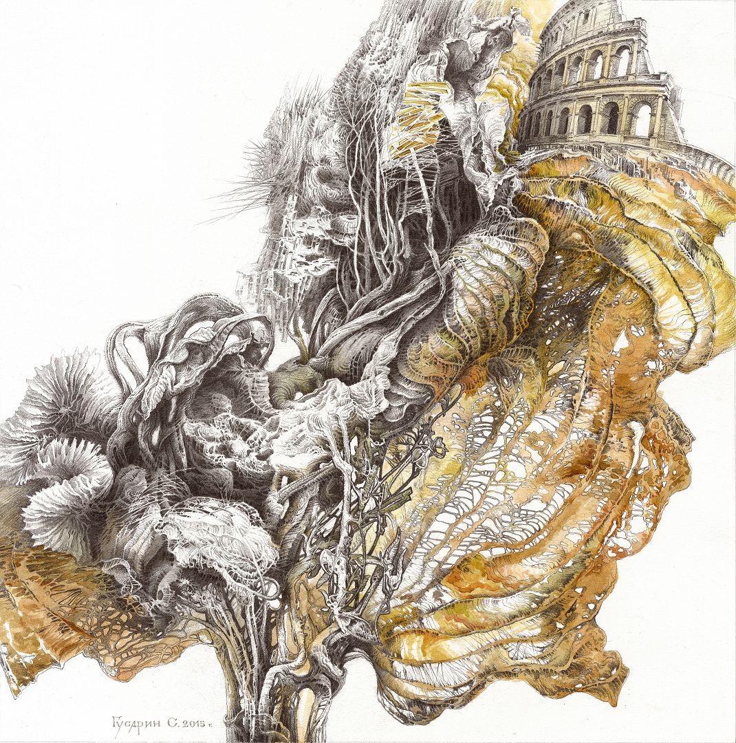Сергей Гусарин Из серии Сухие листья