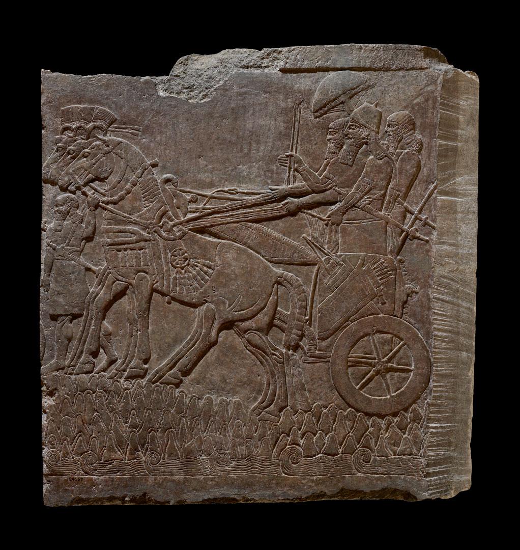 Настенный рельеф с изображением Ашшурнацирапала II в военном походе