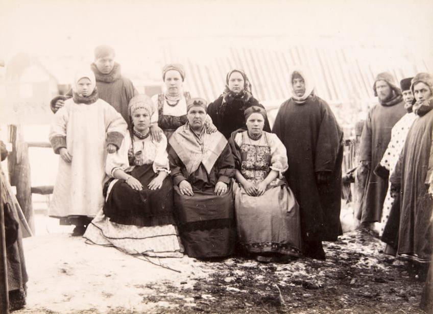 Архангельск. Групповой портрет Я. И. Лейцингер 1880-е — 1910-е