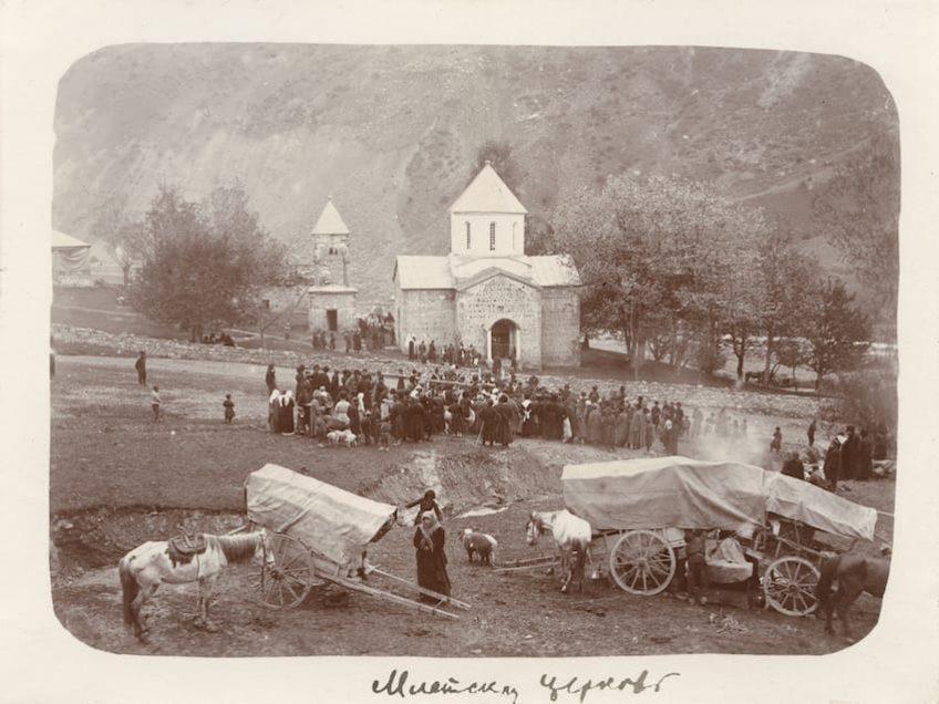 Тифлисская губерния. Млеты. Церковь Георгия Победоносца 1900–1915