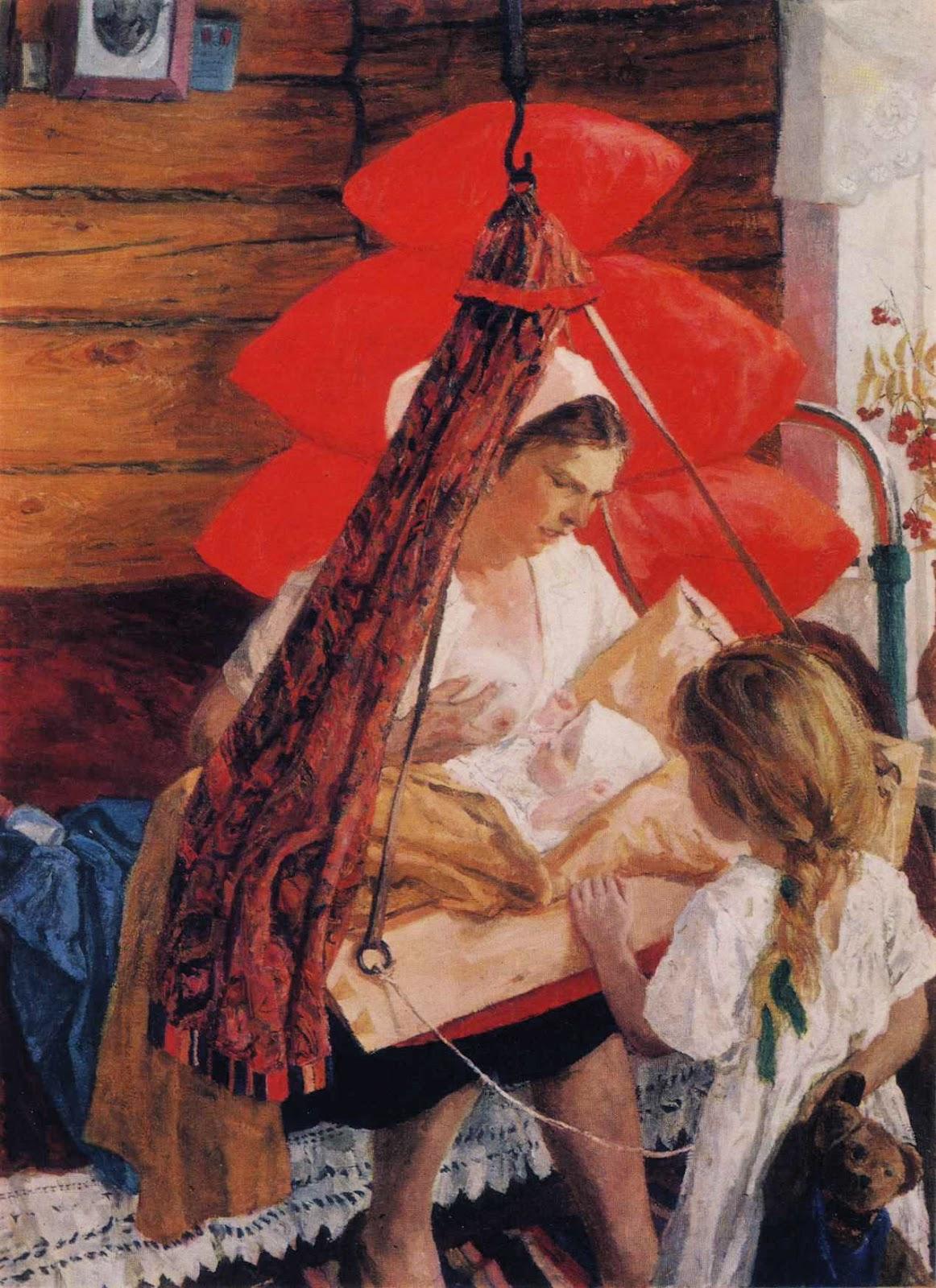 Аркадий Пластов Мама