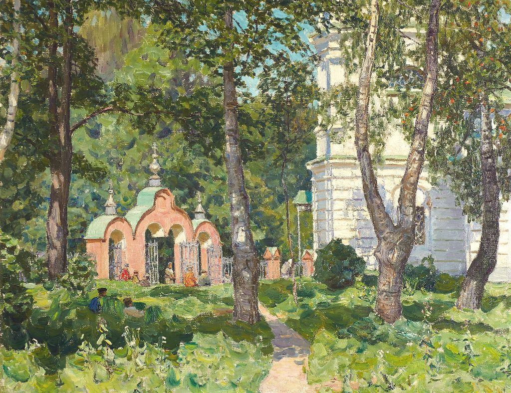 Васнецов А.М. Демьяново. На погосте. 1917