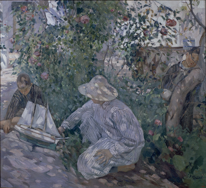 Игнаси Майоль. Кусты роз (Коста-Брава). 1920