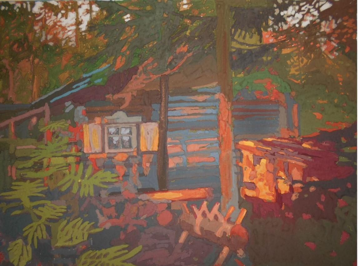 М.М.Мечев (1929-2018). Буйная осень на Бараньем Берегу. 1968