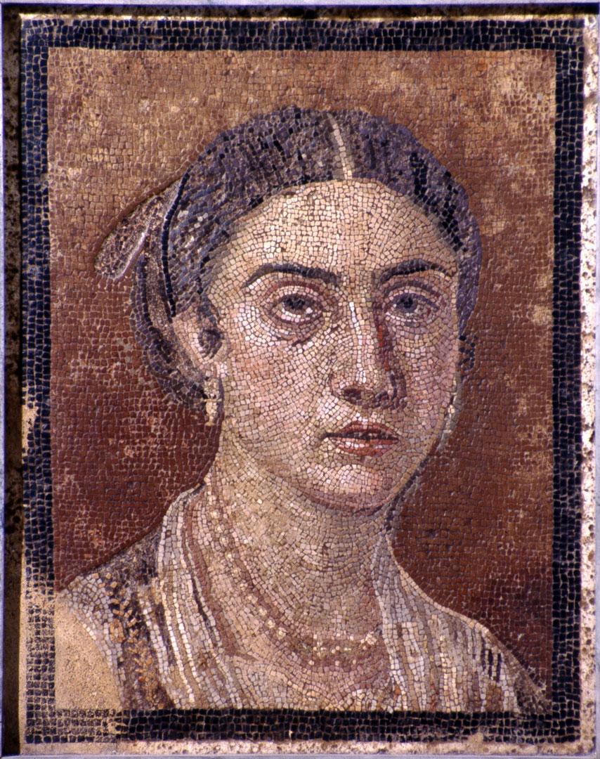 Портрет женщины Мозаика Помпеи I век н. э.