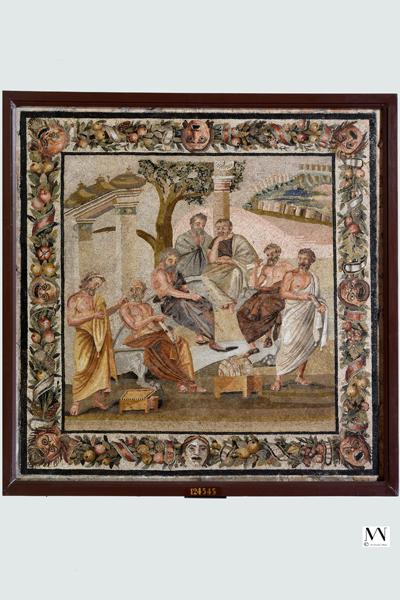 Академия Платона Мозаика Помпеи I в. н. э.