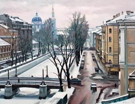 В. Шустов. Санкт-Петербург. Крюков канал. 2002. Холст, масло.