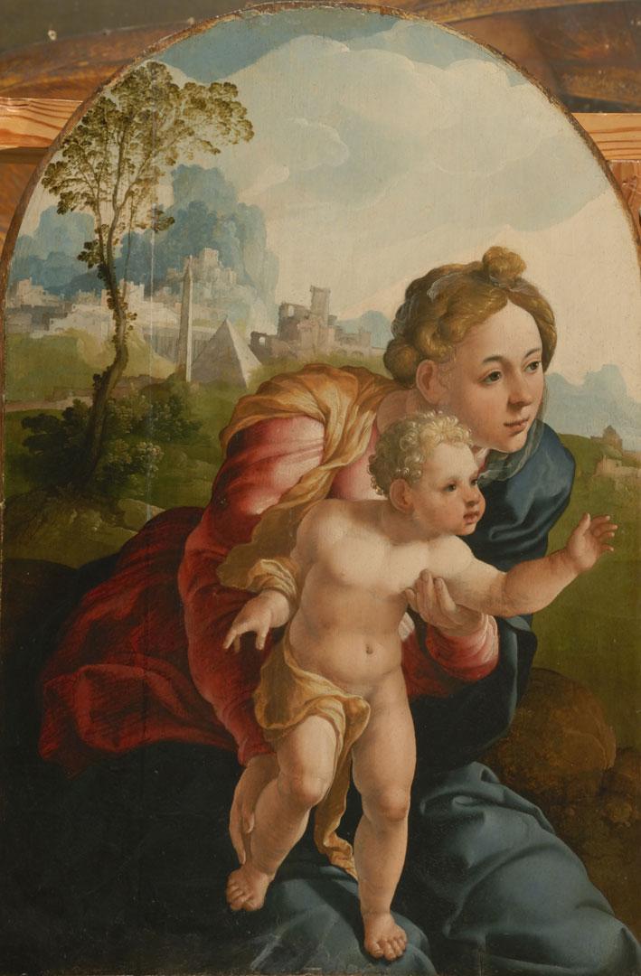 Мадонна с младенцем Ян ван Скорель