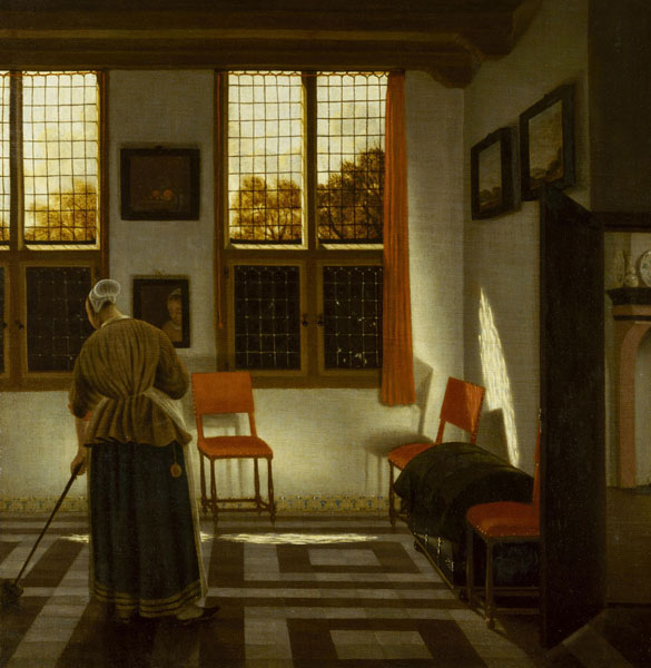 Комната в голландском доме. Янсенс Элинга, Питер. 1623-1682. Голландия, Конец 1660-х - начало 1670-х гг.