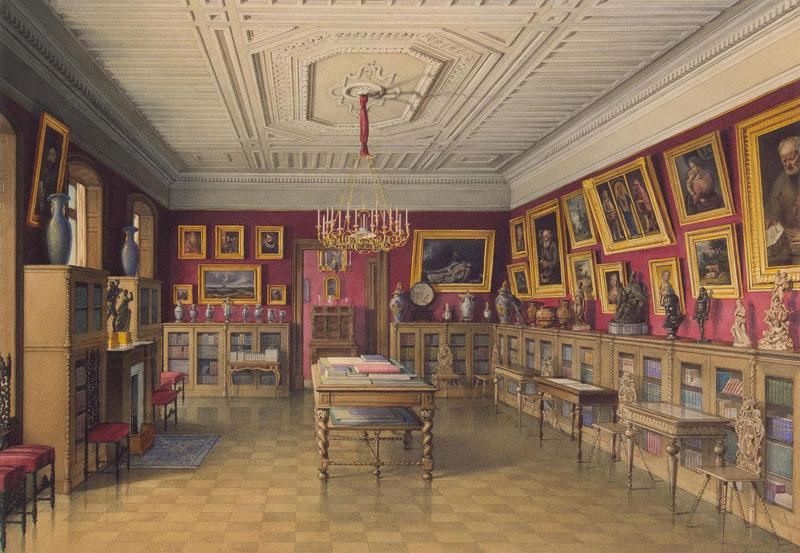 Дворец графа П.С. Строганова. Библиотека. Мейблюм, Жюль. Россия, 1865 г.