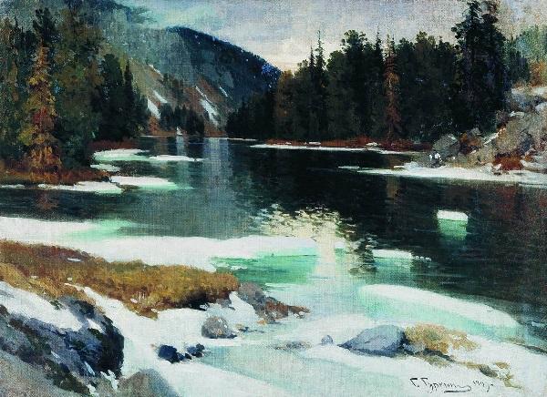 Гуркин Г.И. Ледоход. Озеро Каракол. 1909