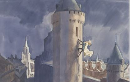 Эскиз обложки II тома Трех мушкетеров А. Дюма
