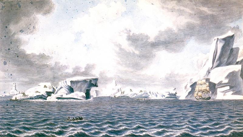 Павел Михайлов. Вид ледяных островов. 1820