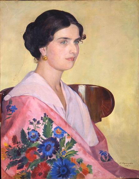 Борис Кустодиев. Портрет Елены Ивановны Грековой. 1920