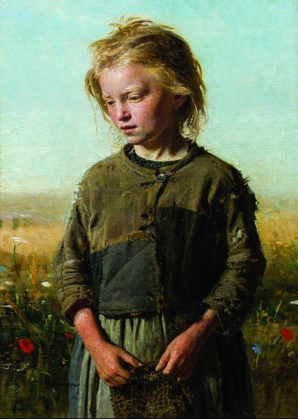 Илья Репин. Нищая (Девочка-рыбачка)
