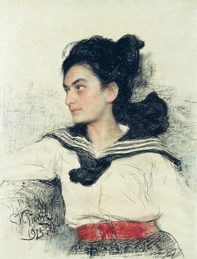 Илья Репин Портрет Марии Осиповны Левенфельд, 1913