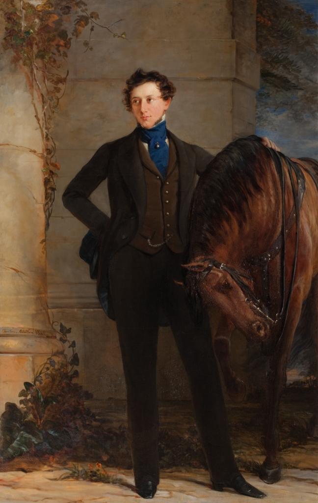 Кристина Робертсон. Портрет графа В. П. Давыдова. 1840 г.