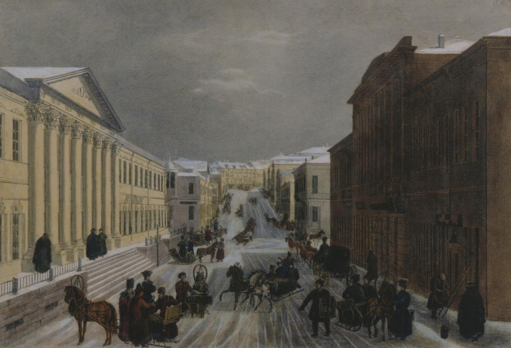 А. Кадоль «Кузнецкий мост» 1825