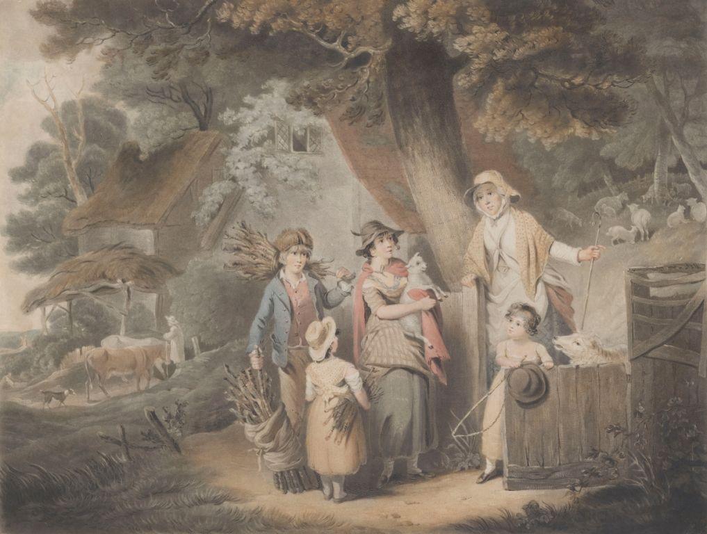 БАРНАРД, УИЛЬЯМ / BARNARD, WILLIAM КРЕСТЬЯНСКАЯ ЧЕСТНОСТЬ, ИЛИ ВОЗВРАЩЕНИЕ ПРОПАВШЕГО ЯГНЕНКА 1802
