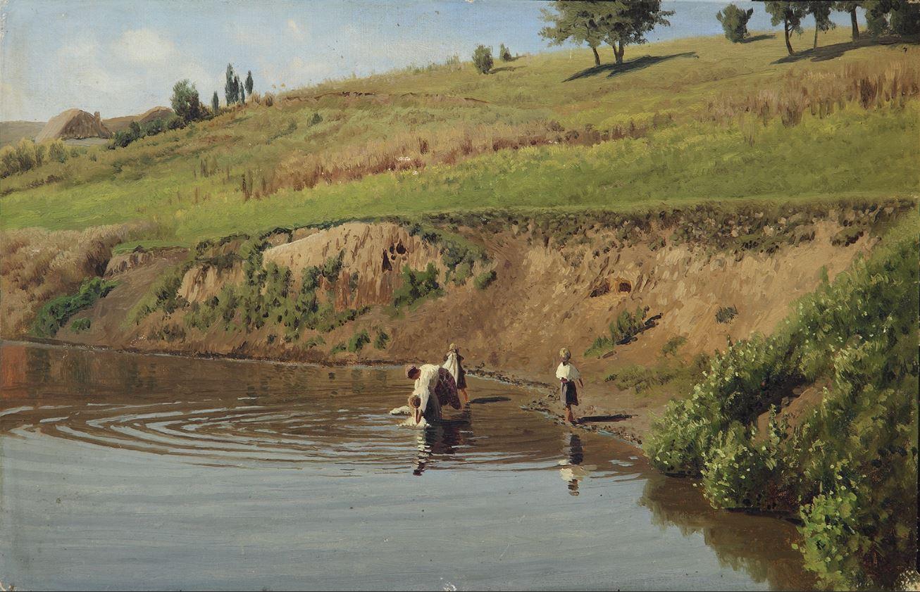 Сергеев Н.А. На реке. Под горой.