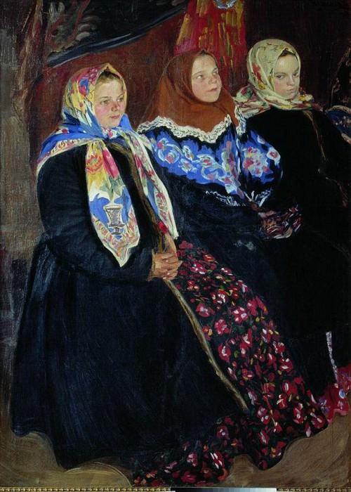 И.С. Куликов. Три девицы, 1907