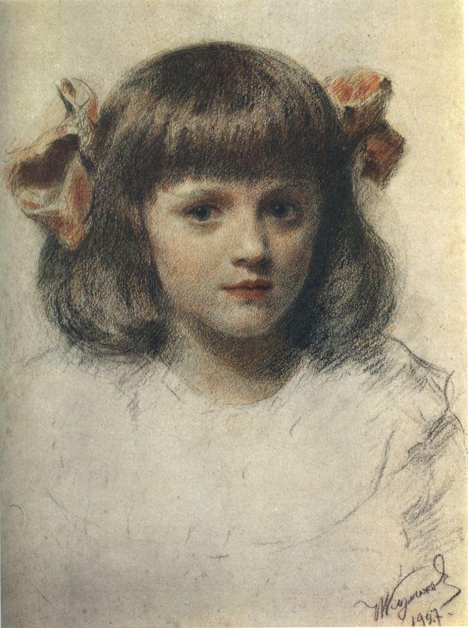 И.С. Куликов. Портрет дочери, 1927