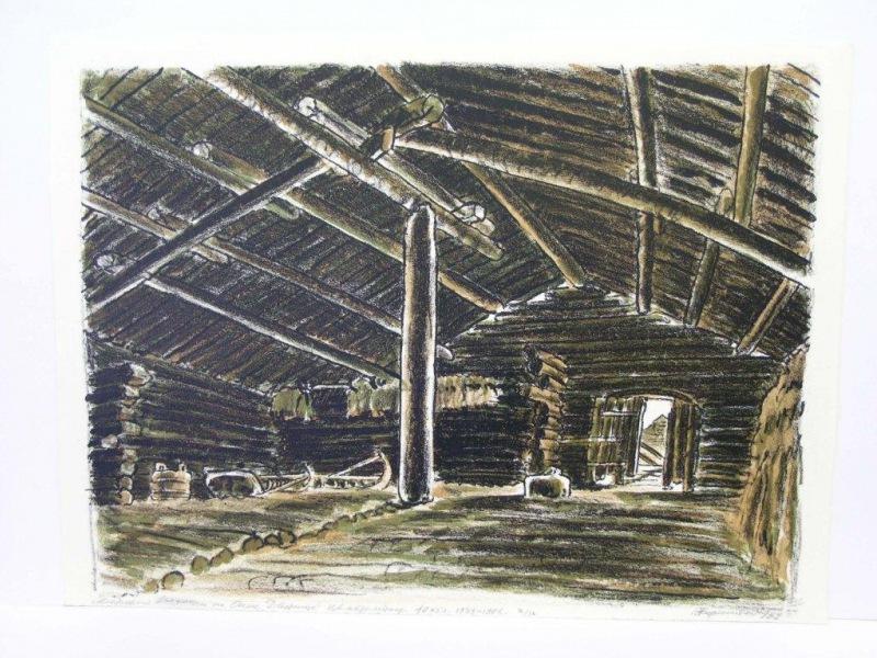 Э.Б. Бернштейн. Деревня Вязенцы на Онеге. Дворище. 1983