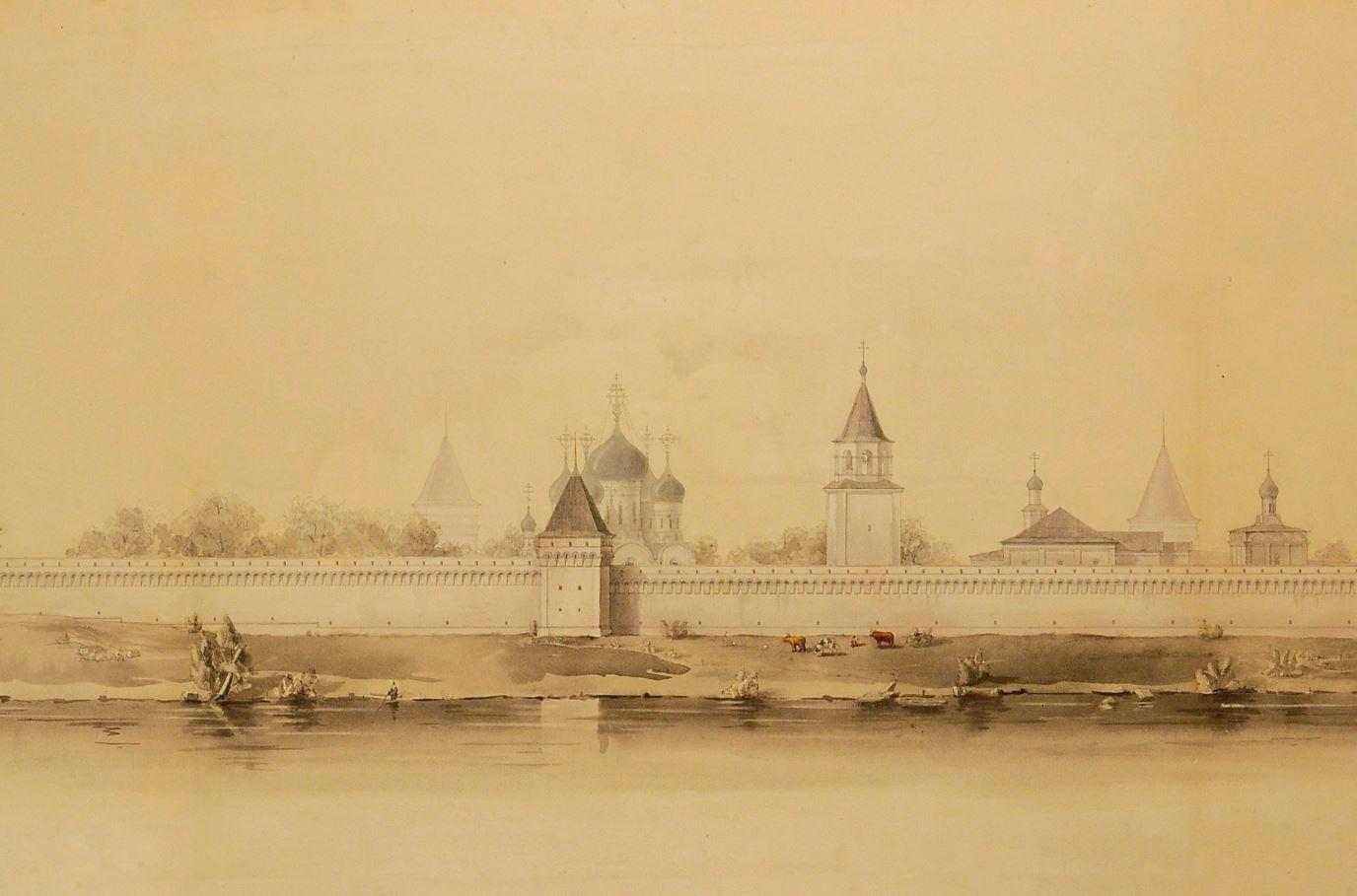 Л.А. Петров. Макарьевский Калязин монастырь. Проект реконструкции. 1940