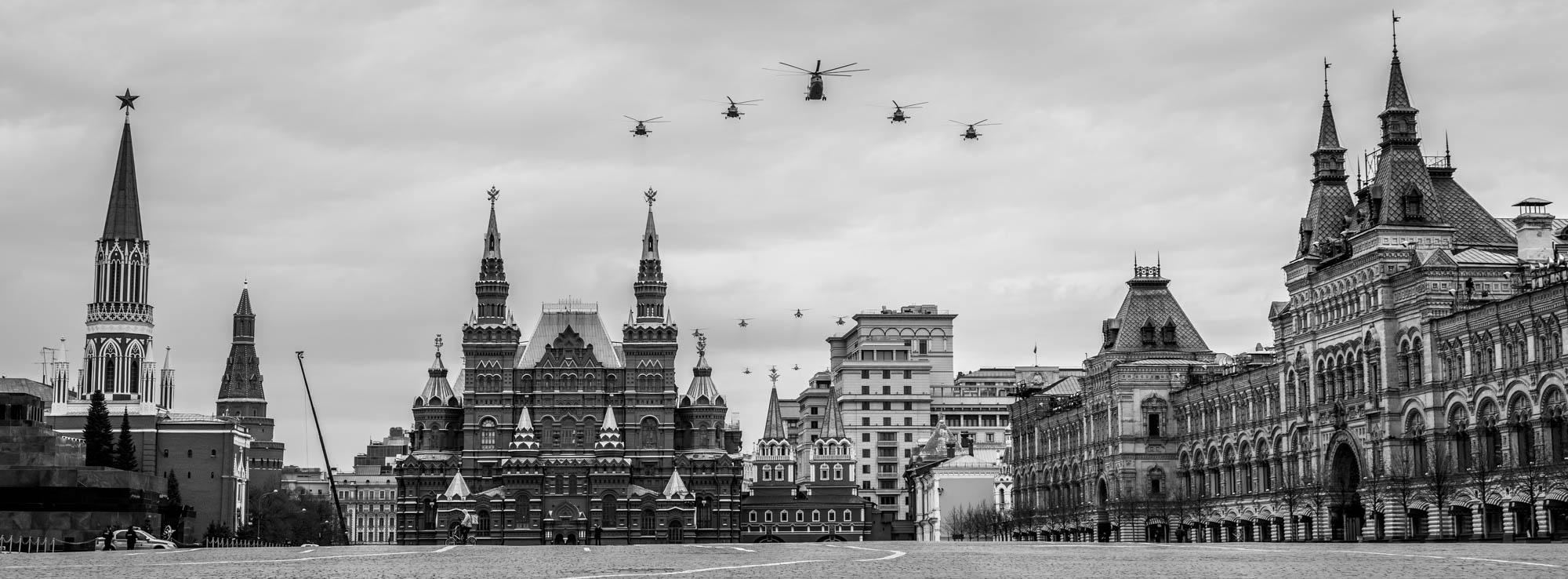 Авиапарад над пустой Красной площадью