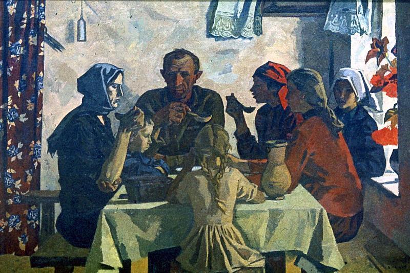 В.И.Иванов. Семья. 1945