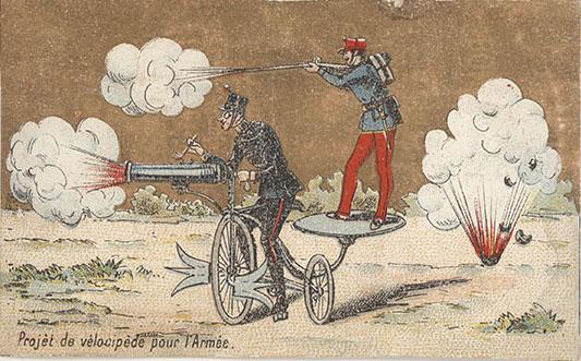 Открытка конца XIX века, Франция