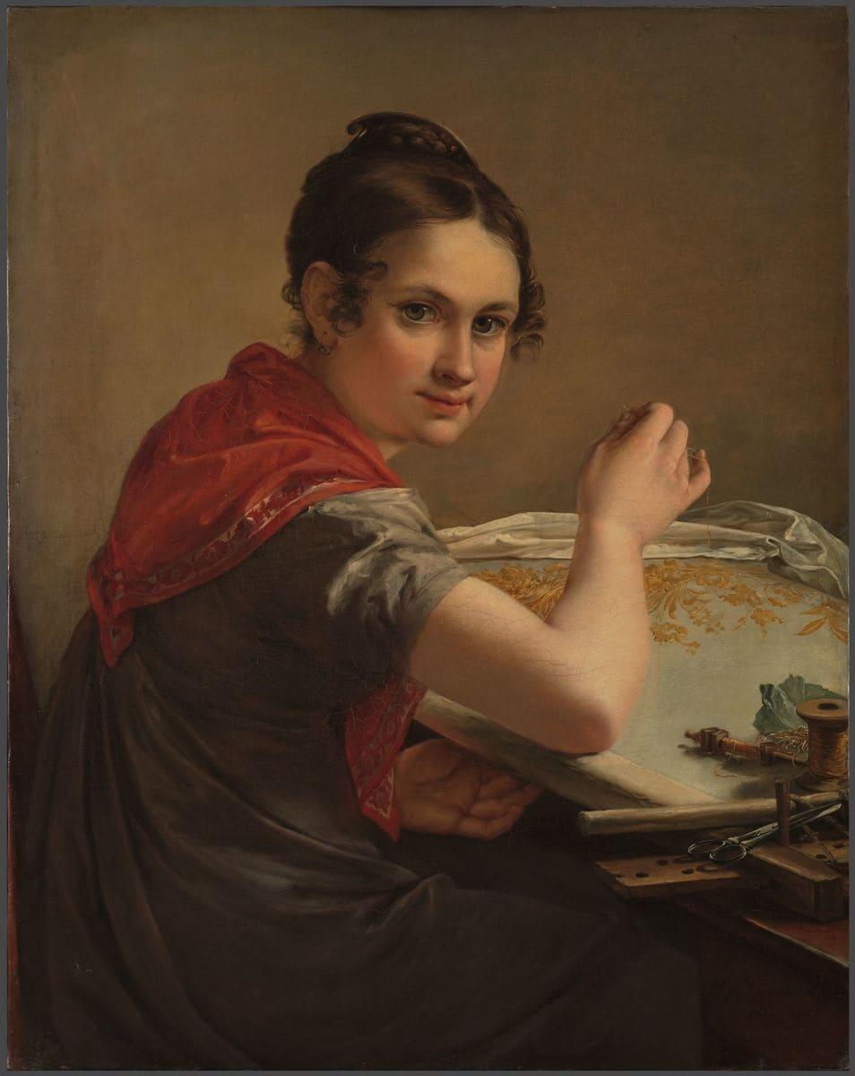 Тропинин В.А. Золотошвейка. 1826