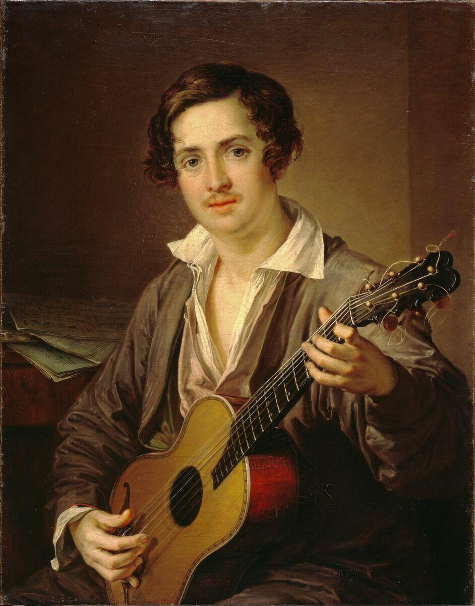 Тропинин В.А. Гитарист. 1832