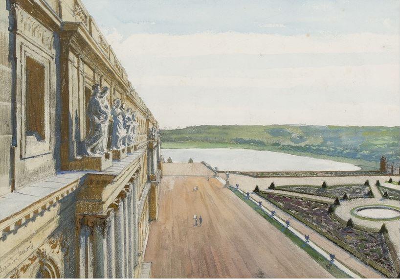 А.Н. Бенуа. Версаль. Вид из окна аттика дворца. Конец 1890-х – 1900-е гг. Частное собрание