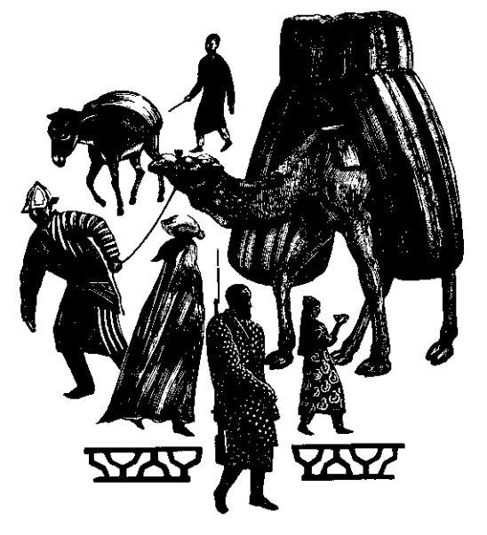 В.А. Фаворский. Самарканд. Уличная сцена. 1943. Гравюра. Собр. семьи Фаворских — Шаховских