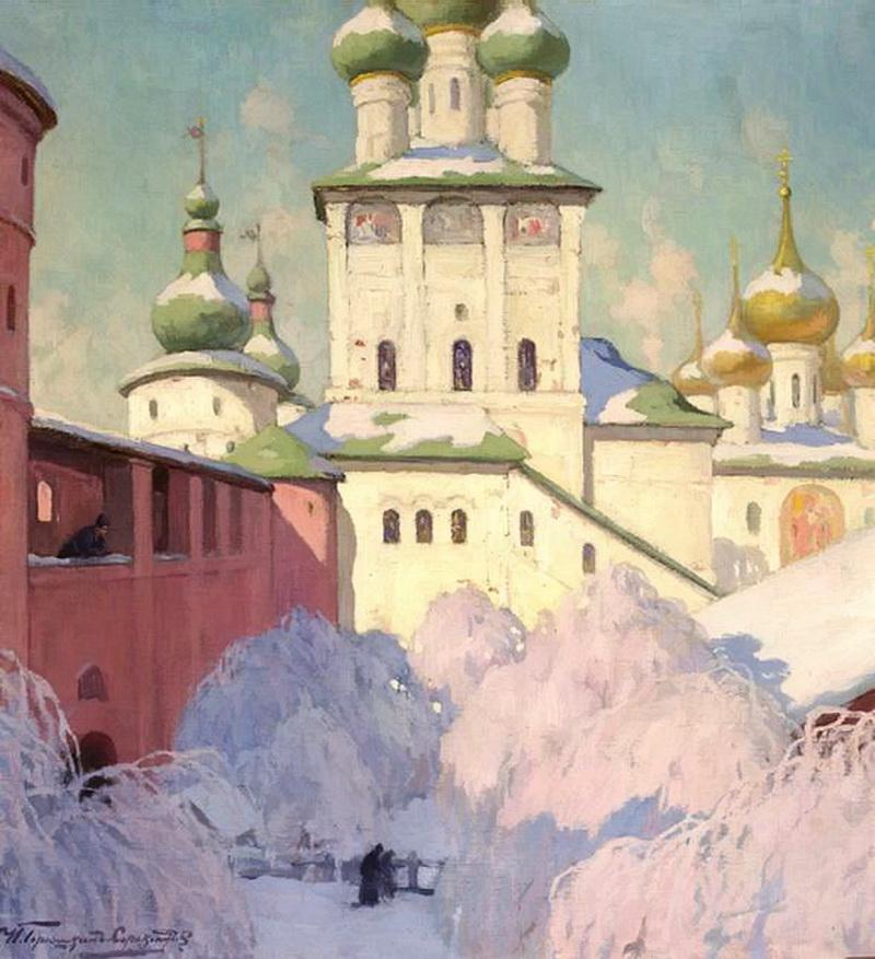 И. С. Горюшкин-Сорокопудов - Зима. Ростовский кремль, 1911