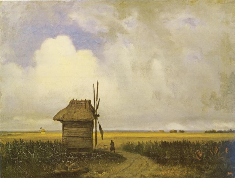 Василий Штернберг. Мельница в степи. 1838