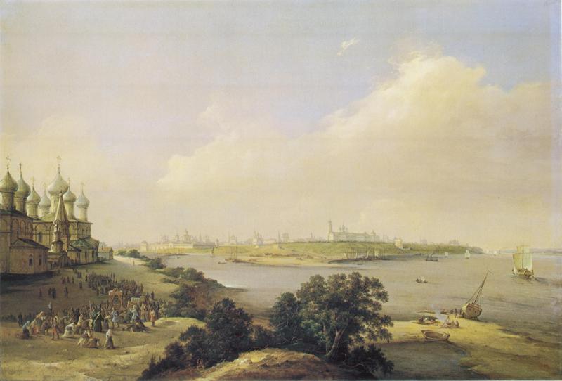 Никанор Чернецов. Вид города Ярославля. 1860