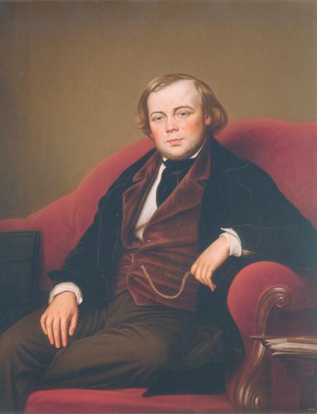 К.К. фон Штейбен. Портрет В.А. Кокорева. Около 1850
