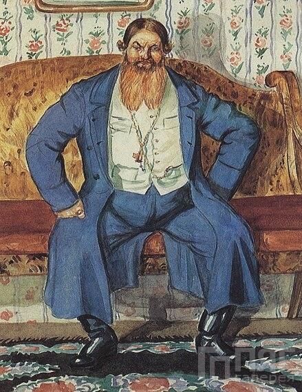 Борис Кустодиев - Купец, 1920