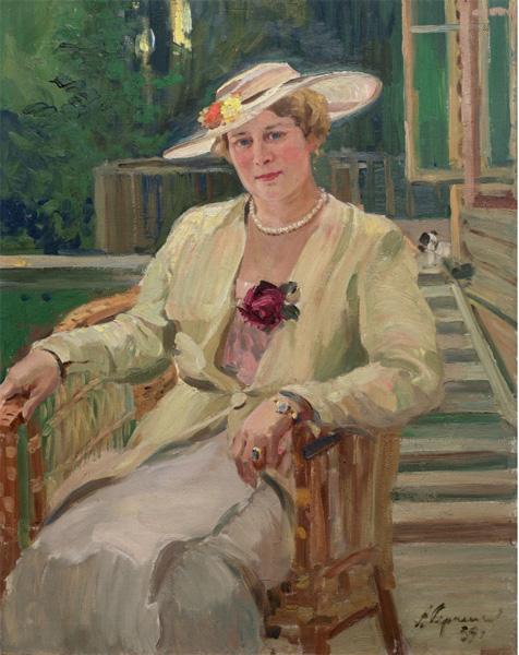 Александр Герасимов. Портрет А.К. Тарасовой. 1939.