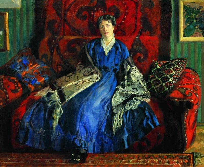 Борис Кустодиев - Портрет Юлии Евстафьевны Кустодиевой, 1920