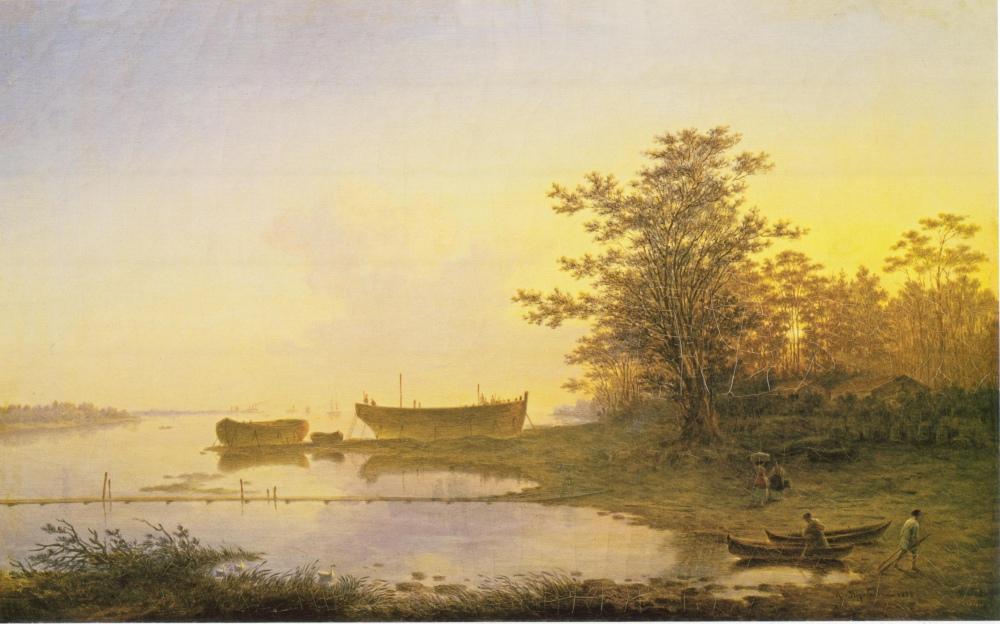 Максим Воробьев. Восход солнца. В предместьях Санкт-Петербурга, 1832