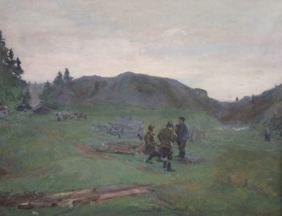 В.В. Крайнёв. Трофеи партизан. 1943